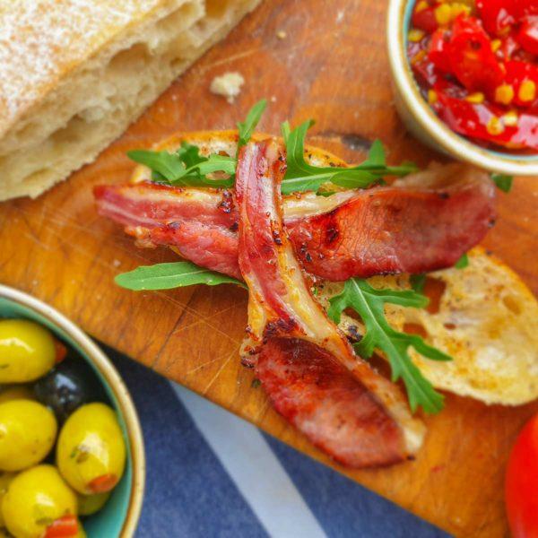 Smoked Honey Lamb Bacon - Welsh Smokery